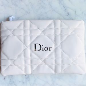 Dior cannage quilted makeup bag clutch